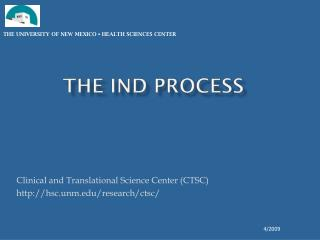 The IND Process
