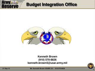 Budget Integration Office