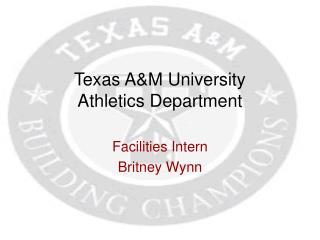 Texas A&M University  Athletics Department