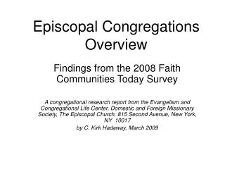 Episcopal Congregations Overview