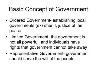 Basic Concept of Government