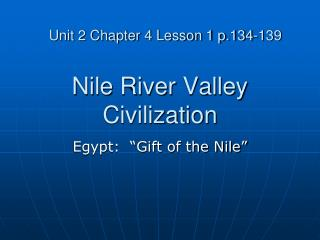Nile River Valley Civilization