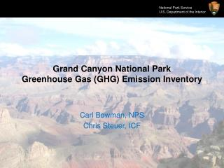 Grand Canyon National Park Greenhouse Gas (GHG) Emission Inventory
