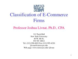 Classification of E-Commerce Firms