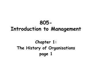 805-  Introduction to Management