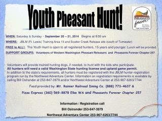 Youth  Pheasant  Hunt!