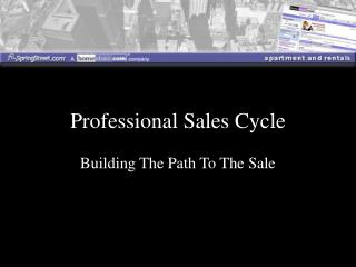 Building The Path To The Sale