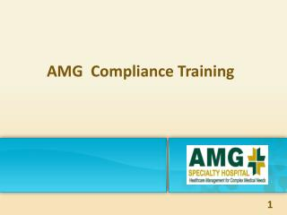 AMG  Compliance Training