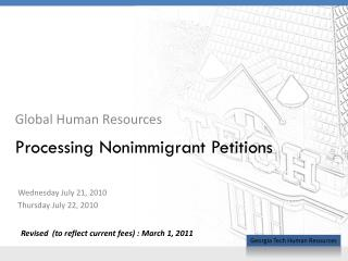 Processing Nonimmigrant Petitions