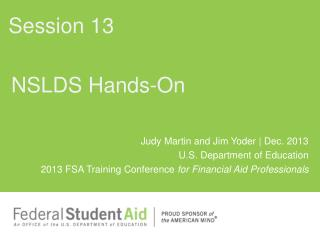 NSLDS Hands-On