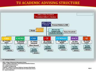TU ACADEMIC ADVISING STRUCTURE