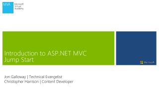 Introduction to ASP.NET MVC Jump Start