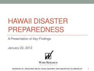 Hawaii Disaster Preparedness