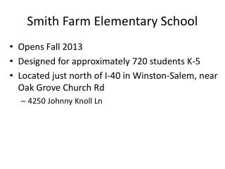 Smith Farm Elementary School