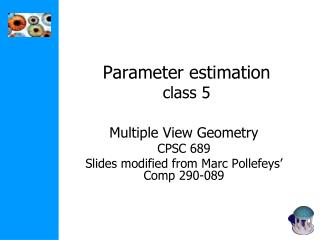 Parameter estimation class 5
