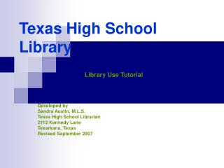 Texas High School Library