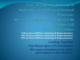 EFB.797.M007.SPRING12.Hydrology & Biogeochemistry