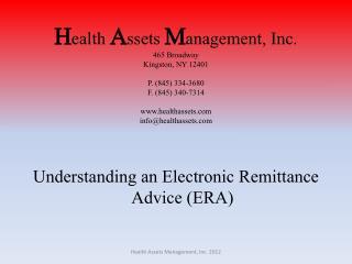 Understanding an Electronic Remittance Advice (ERA)