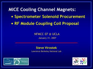 Steve Virostek Lawrence Berkeley National Lab