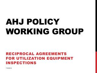 AHJ Policy Working Group