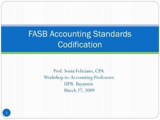 FASB Accounting Standards Codification