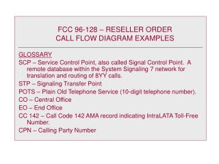 FCC 96-128 – RESELLER ORDER CALL FLOW DIAGRAM EXAMPLES