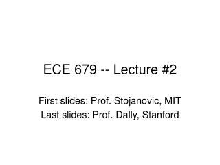 ECE 679 -- Lecture #2