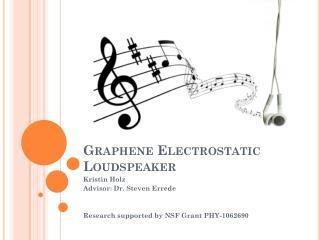 Graphene Electrostatic Loudspeaker