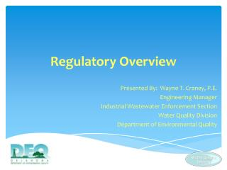 Regulatory Overview