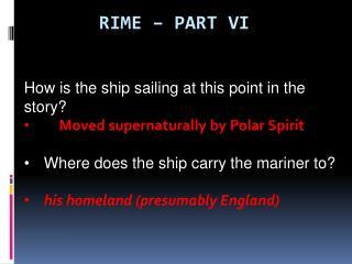 Rime – part VI