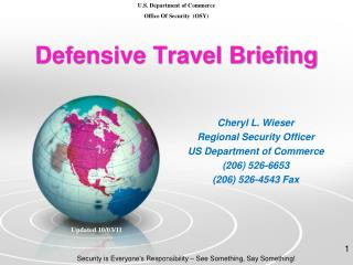 Defensive Travel Briefing
