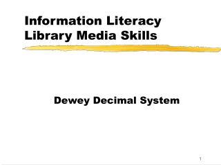 Information Literacy Library Media Skills