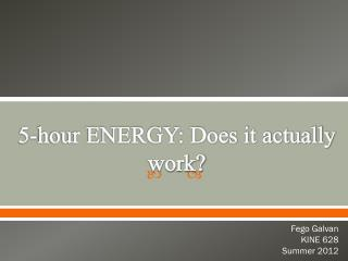 5-hour ENERGY: Does it actually work?
