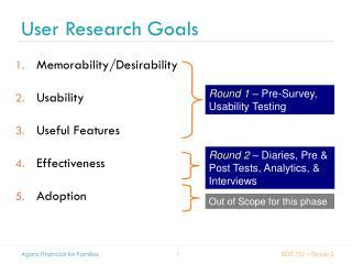 User Research Goals