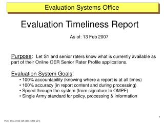 Evaluation Systems Office