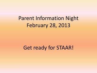 Get ready for STAAR!