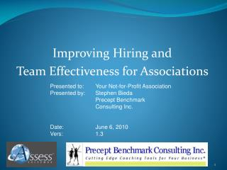 Improving Hiring and  Team Effectiveness for Associations