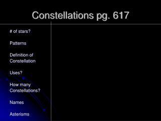 Constellations pg. 617