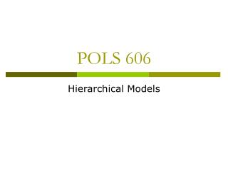 POLS 606