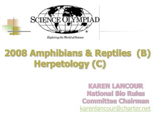2008 Amphibians  Reptiles  B    Herpetology C