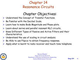 Chapter 14 Resonance Circuits