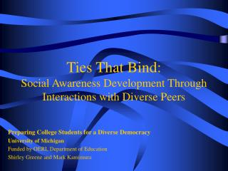 Ties That Bind: Social Awareness Development Through Interactions with Diverse Peers