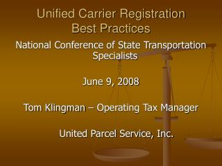 Unified Carrier Registration Best Practices