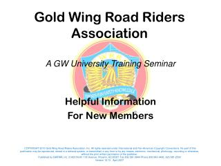 Helpful Information For New Members