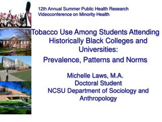 Tobacco Use Among Students Attending Historically Black Colleges and Universities: Prevalence, Patterns and Norms Michel