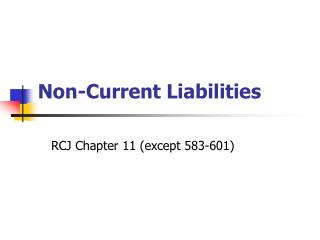 Non-Current Liabilities