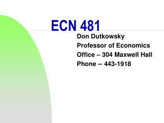 ECN 481