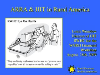 ARRA  HIT in Rural America