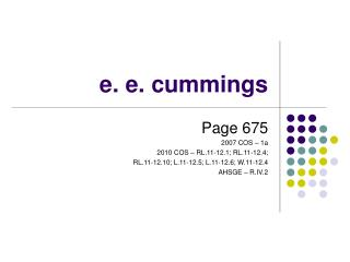 e. e. cummings