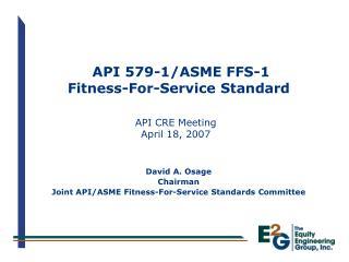 API 579-1/ASME FFS-1 Fitness-For-Service Standard